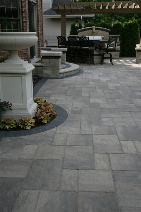 Backyard Paver Design Ideas Unilock Pavers Decorating Ideas For Patio Traditional Design Ideas With