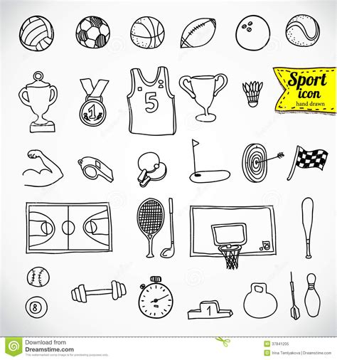 doodle sport doodle sports vector illustration royalty free stock