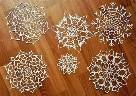 Make Paper Snowflakes For Decorations - crafts 12 gorgeous paper snowflake designs