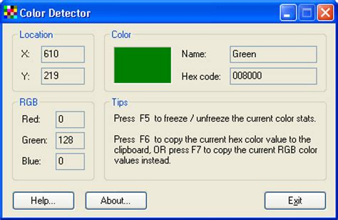 color detector rogai info software details for color detector 2 0