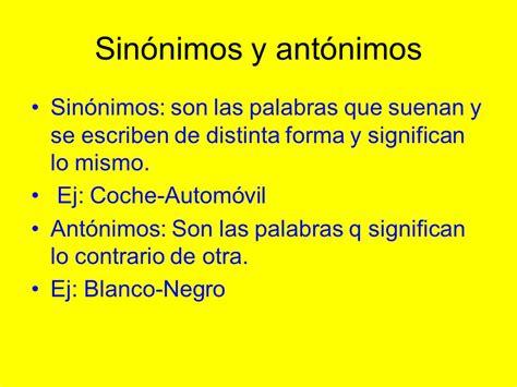 significado de antonimos y ejemplos de antonimos postea mejor tipos de diccionarios normativo sin 243 nimos y ant 243 nimos
