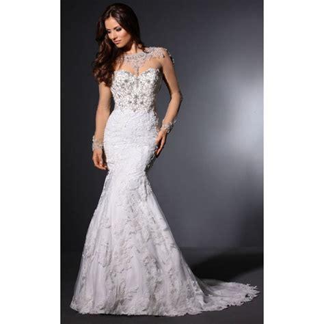 Wedding Dress Nz by Mermaid Sleeve Chapel Lace Tulle