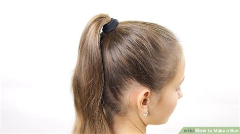 is putting hair in a bun a new fad 6 ways to make a bun wikihow