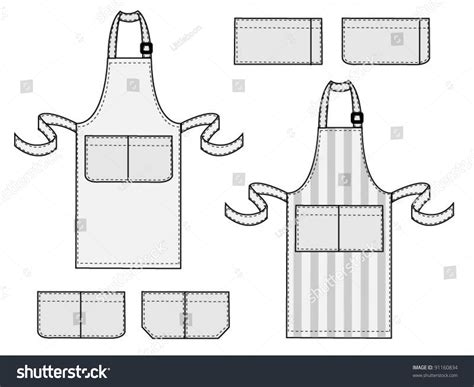 apron design template apron fashion template stock vector 91160834