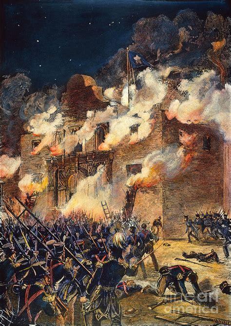 the battle of the alamo 1836 texas revolution texas the alamo 1836 photograph by granger