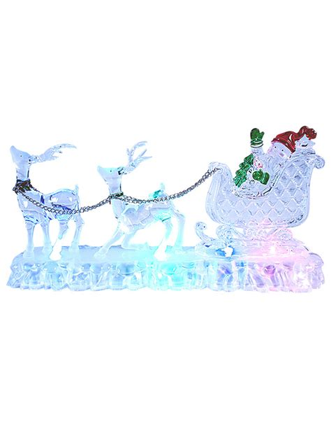 light up christmas decorations indoor christmas light up decoration acrylic santa snowman led