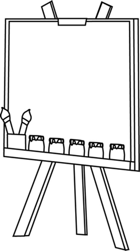 art easel coloring page black and white easel clip art black and white easel image