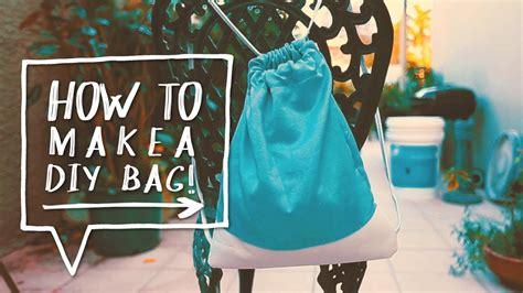 diy drawstring bag how to make a diy backpack for school