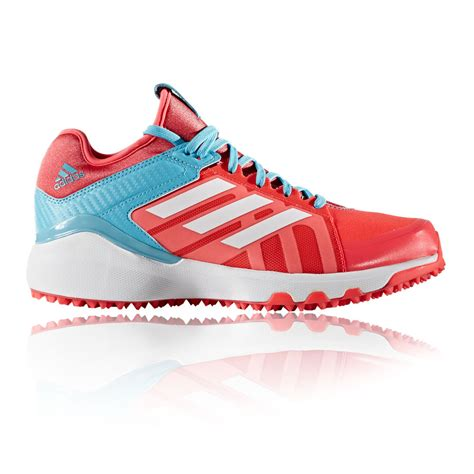 adidas womens pink hockey court sports lace up shoes trainers pumps ebay