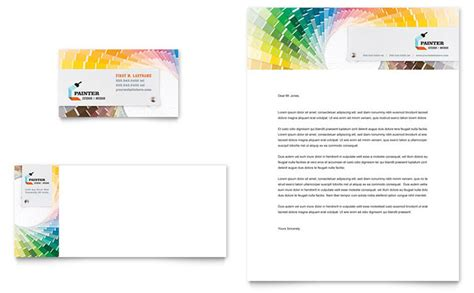 house painting contractor business card letterhead