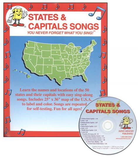us map states and capitals song 50 states and capitals map song