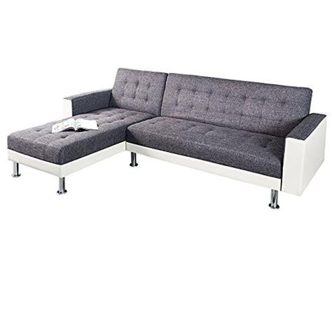 schlafcouch mit ottomane design ecksofa chaise lounge wei anthrazit mit