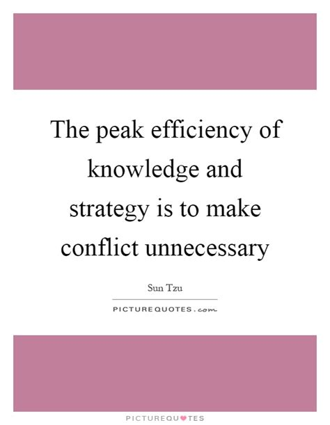 knowledge and strategy the peak efficiency of knowledge and strategy is to make