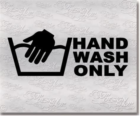 Tuning Aufkleber Hand by Hand Wash Only Autoaufkleber Tuning Sticker Auto Hand