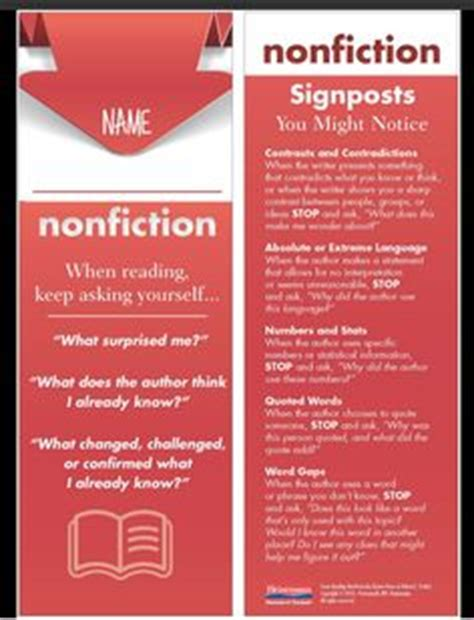 reading nonfiction notice note stances signposts and strategies 1000 images about informational text on