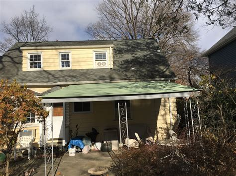 aluminum awnings nj replacing a aluminum awning roof with metal roofing in teaneck new jersey new