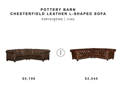 pottery barn l shaped couch pottery barn chesterfield leather l shaped sofa copycatchic