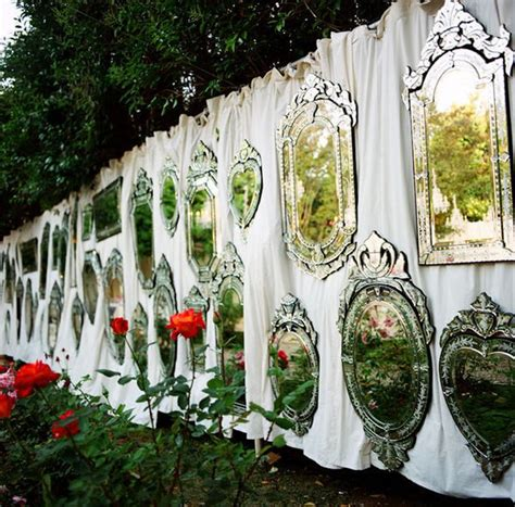 creative ways to use mirrors as reception decor can t
