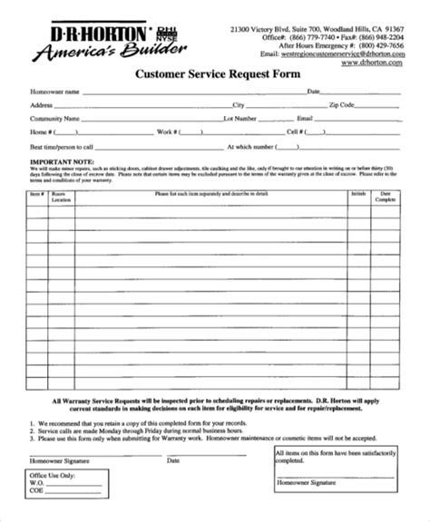 9 sle service request forms sle forms