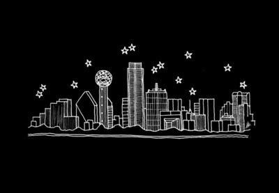dallas skyline tattoo best 25 dallas skyline ideas on