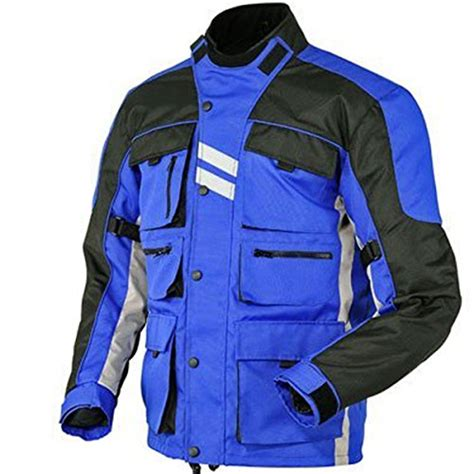 blue motorbike jacket juicy trendz motorcycle motorbike biker cordura waterproof