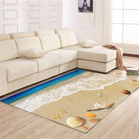 mat for living room colormix 80x120cm living room floor mat delicate sea style shell pattern antiskid bedside