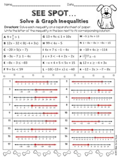 Solve And Graph Inequalities Worksheet by Solving And Graphing Inequalities Practice Worksheet By