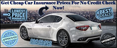 Check Car Insurance Rates by No Credit Check Auto Insurance Compare Car