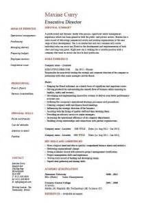 Director Resume Executive Director Resume Management Exle Sle Description Finance Projects Work