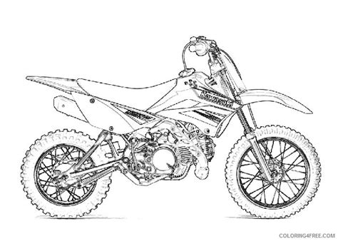 Dirt Bike Coloring Pages Kawasaki Klx Coloring4free Coloring4free Com Dirt Bike Pictures To Color