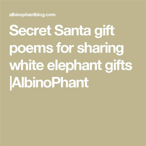 secret poems for 25 best ideas about secret santa poems on