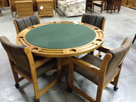 poker table and chairs poker table and chairs allegheny furniture consignment