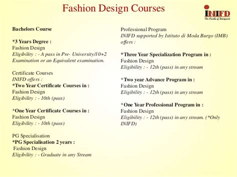fashion design degree from home inifd koregaon park pune a professional program in