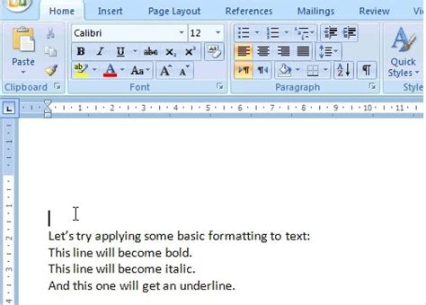 format html bold formatting text in ms word basic formats