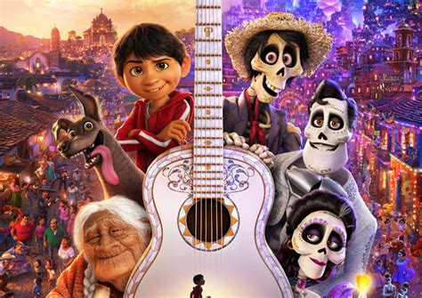 coco new film new coco poster celebrates the day of the dead pixar style