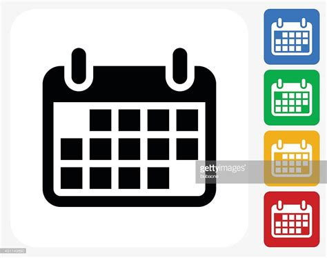 design calendar graphic calendar icon flat graphic design vector art getty images