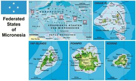 map of micronesia large detailed physical map of micronesia with roads