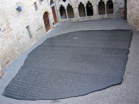 rosetta stone location file place des ecritures figeac jpg wikimedia commons