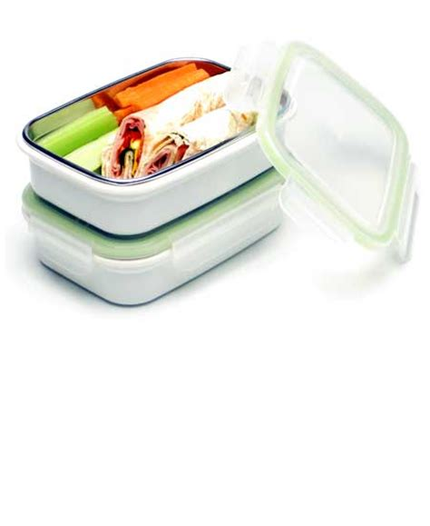 Steeltainer Compact Size Container 320ml White steeltainer sandwich salad size two white leak proof