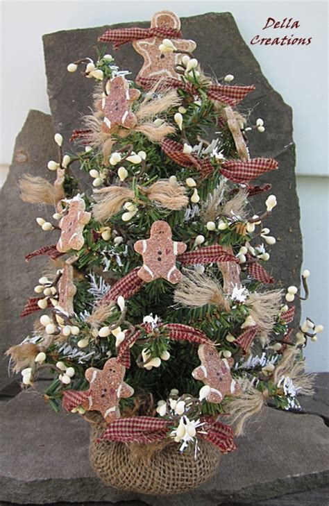 tabletop christmas tree primitive country with salt