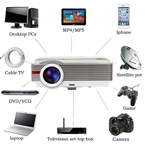 Lcd Wireless Projector eug x99 a android4 2 wireless office education lcd