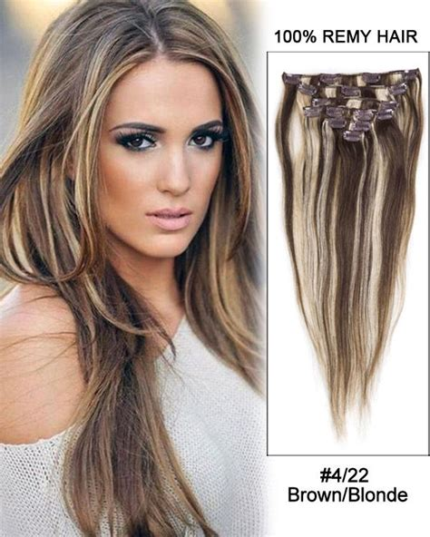 brown and blonde weave 30 4 22 brown blonde straight 100 remy hair clip in