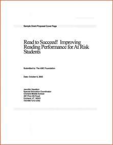 grant cover sheet proposalsheet