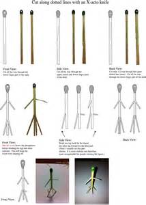 How To Make An Origami Person - match stick diagrams