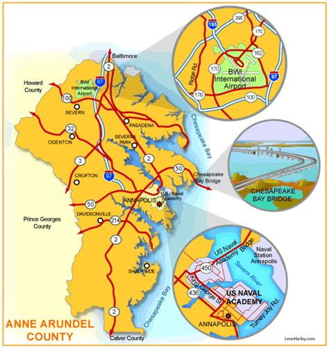 maryland map arundel county waterfront water view water access in arundel
