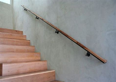 Wall Mounted Banister Handrail Modern Simple Sleek Wall Mounted Wooden Handrails Stairs
