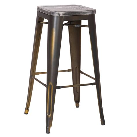 30 inch metal bar stools with back joveco 30 inches distressed metal bar stool with wooden