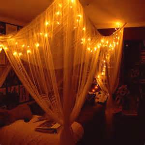 Bed Canopy With Lights Canopy Bed Lights Bedroom Diy