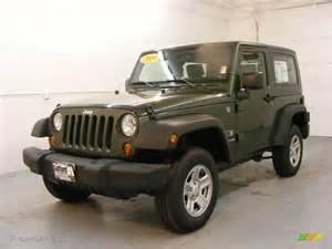 Jeep Green Metallic 2009 Jeep Green Metallic Jeep Wrangler X 4x4 24493707