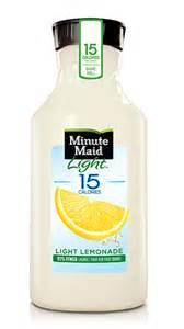 minute light lemonade light juice drinks minute 174